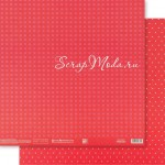 Бумага двусторонняя Красный горох, размер 30,5х32 см, 180 г/м, Арт Узор, BU002159