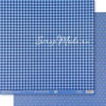 Бумага двусторонняя Синий горох, размер 30,5х32 см, 180 г/м, Арт Узор, BU002160