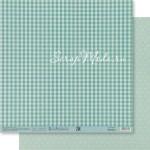 Бумага двусторонняя Мятный горох, размер 30,5х32 см, 180 г/м, Арт Узор, BU002161