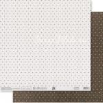 Бумага двусторонняя Базовый горох, размер 30,5х32 см, 180 г/м, Арт Узор, BU002162