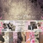 """Набор двусторонней бумаги """"Dreamland"""", 11 листов, плотность бумаги 250гр, размер 30,5х30,5см, Summer studio, BU002183"""