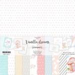 """Набор двусторонней бумаги """"Vanilla dreams"""", 11 листов, плотность бумаги 190гр, размер 30,5х30,5см, Summer studio, BU002184"""