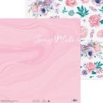 Бумага двусторонняя Цветочная мечта, размер 30,5х32 см, 180 г/м, Арт Узор, BU002194