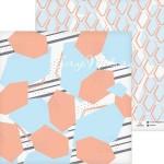 Бумага двусторонняя Соты, размер 30,5х32 см, 180 г/м, Арт Узор, BU002197