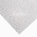 Кардсток жемчужный с фольгированием, Серебряные звезды, размер 30,5х32 см, плотность 250 г/м, Арт Узор, BU002203