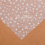 Ацетатный лист Белые звезды, размер 30х30см, 300 г/м, АртУзор, BU002204