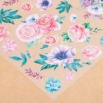 Ацетатный лист Цветочная Галерея, размер 30х30см, 300 г/м, АртУзор, BU002213