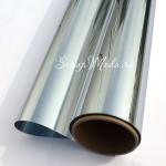 Виниловая самоклеющаяся пленка, цвет: Серебро, металлизированная, размер 25x50 см. Идеально подходит для плоттеров. BU002218