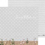 Бумага двусторонняя Горошек, размер 30,5х30,5 см, 180 г/м, Арт Узор, BU002225