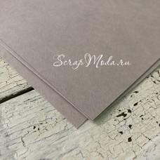 Кардсток Серый, матовый, текстура: акварель, плотность 270гр/м, размер 30х30 см., цена за 1 лист, BU002232