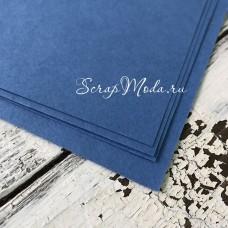 Кардсток ярко-Синий, матовый, текстура: акварель, плотность 270гр/м, размер 30х30 см., цена за 1 лист, BU002233
