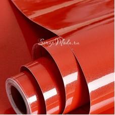 Виниловая самоклеющаяся пленка, цвет: Красный Глянец, размер 25x25 см. Идеально подходит для плоттеров. BU002237