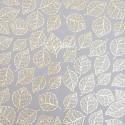 """Веллум с золотым тиснением """"Golden Leaves"""" размер 30,5x30,5см., Fabrika Decoru, BU002253"""