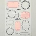 Калька декоративная Шильдики, нанесение цветное, размер 21х29,5см, 80 г/м, АртУзор, BU002264