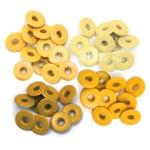 Люверсы широкие Yellow, в наборе 40 люверсов, We R Memory Keepers, DA000014