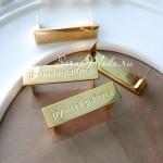 """Позолоченный лейбл """"Ручная работа"""", цвет золото-покрытие золото 999,9 пробы, размер 37х10 мм, толщина 1 мм. DA000016"""