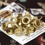 Люверсы двусторонние золотые, цена за 10 шт., DA000017