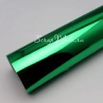 Термотрансферная пленка с зеркальным эффектом- Зелёная, размер 25х25см., DA000022