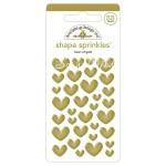 Набор эмалевых украшений Heart of Gold with Foil Accents, 33 шт., Doodlebug. DA000059