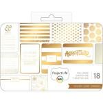 Набор карточек для Project Life, с фольгированием, 18 шт., размер 10х15 см., American crafts. DA000062