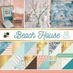 Набор двусторонней бумаги Beach House 30,5х30,5см., 1/2 набора - 18 листов, часть с золотым фольгированием. DCWV DA000068