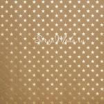 Кардсток Star, крафт+звёзды, 30,х30,5 см, с фольгированием, Bazzill, DA000103