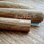 Переплётный кожзаменитель под дерево – Деревянный срез, отрез размером 35х50см(+/- 1см), очень тонкий 0,2 мм, на тканевой основе, DA000111