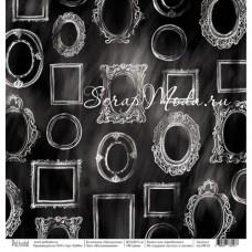 Односторонняя бумага Воспоминания, коллекция Щелкунчик, размер 30.5х30.5 см, Polkadot, DA000123