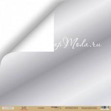 Лист односторонней бумаги- Зеркальное серебро, 30x30 см, Scrapmir, DA000128