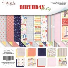 Набор двусторонней бумаги Birthday Party , 30х30 см., в наборе 10 двусторонних листов, Scrapmir, DA000129