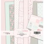 Набор односторонней бумаги Baby Girl, 20х20см, 10 листов в наборе, Scrapmir, DA000133