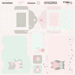 Бумага двусторонняя Конверты коллекция Baby Girl, 20х20 см., Scrapmir, DA000134