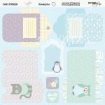 Бумага двусторонняя Конверты коллекция Baby Boy 20х20 см., Scrapmir, DA000139