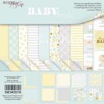 Набор односторонней бумаги Smile Baby, 20х20см, 10 листов в наборе, Scrapmir, DA000140