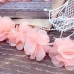 Шифоновые цветочки, цвет Нежно-персиковый, размер 6 см., цена указана за 1 шт., DA000156