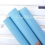 Кожзаменитель пыльно голубой, полуглянец, отрез размером 32х50см(+/- 1см), очень тонкий 0,2 мм, на тканной основе, DA000218