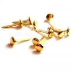 Брадс Gold круглый, 10 шт. 8 мм, длина ножки 14 мм, DA000281