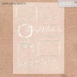 Калька декоративная с тиснением серебро и белое, Рамочки, размер 29,7x21 см, 180 г/м, Арт Узор, DA000287