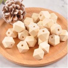 Бусина деревянная - Геометрический куб, 12 мм, цена за 1 шт, DA000289