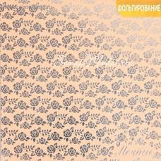 Бумага односторонняя жемчужная с тиснением металлизированным Мечты, размер 20 х 20см, 250 г/м, Арт Узор, DA000303