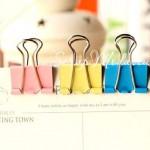 Набор Зажимов, размер 15 мм, в наборе (розовый, жёлтый, голубой) цена 6 штук, DA000315