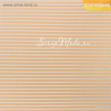 Бумага односторонняя Крафт с фольгированием Вдохновляй, размер 30,5х30,5 см, 250 г/м, Арт Узор, DA000352