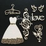 Чипборд Романтика, 100х150 мм, толщина 1,55 мм., Fleur Design, DA000386