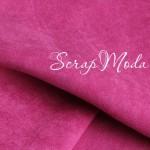 Замша искусственная Щербетно-розовый, отрез размером 39х41см(+/- 1см), DA000404