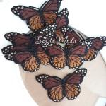 Термоаппликация Бабочки, размер 4,5х7,5 см., цена за 1 шт., DA000418