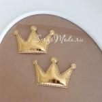 Корона из кожзама, 48х30 мм., золотое, цена 1 шт., DA000423