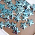 Звёздочка Mini из кожзама, 25 мм., голубая, цена за 1 шт., DA000429