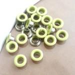 Люверсы металлические, цвет салатовый, внутренний диаметр - 4,8 мм., в наборе 20 шт. DA000452