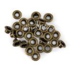 Люверсы металлические, бронзовые, внутренний диаметр - 4,8 мм., в наборе 10 шт., UC003048