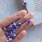 Люверсы металлические, цвет фиолетовый, внутренний диаметр - 4,8 мм., окрашены полностью, в наборе 10 шт. DA000455